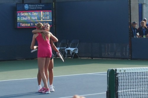Cibulkova Hantuchova hug doubles pretty girls tennis Cincinnati Open pictures photos images