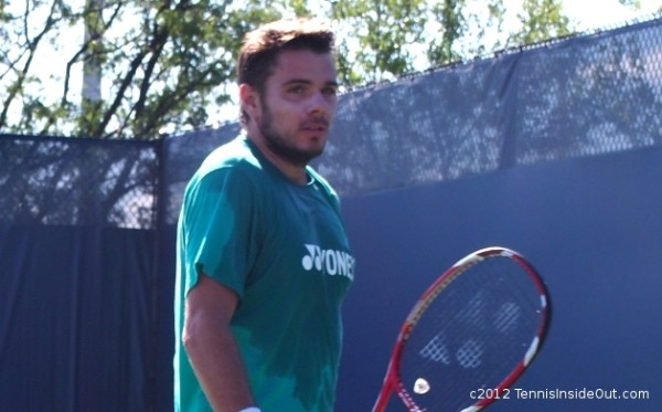 Stanley Wawrinka Stanislas photos Western and Southern Open sunscreen sweaty shirt cheeks racquet pictures images