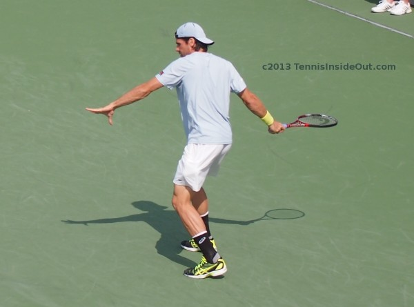 Beautiful Tommy Haas lining up forehand handsome sexy curves long lean arms