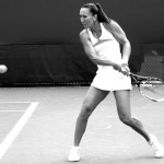 Beauty of Tennis Series backhand swing tennis ball practice black and white pics