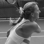 Cincinnati premier tennis sexy shoulder blades full backhand swing cute blonde red headed braid sexy Petra Kvitova photos
