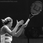 Western and Southern Open tennis Petra Kvitova forehand swing cute blonde braid Wilson racquet pics photos by Valerie David
