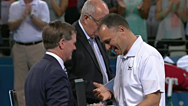 Mohamed Lahyani umpire watch trophy ceremony Brisbane 2016